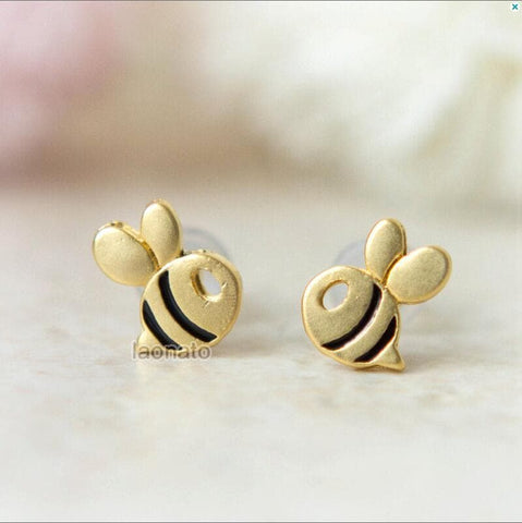 Image of Limited Edition Studded Baby Bee Earrings
