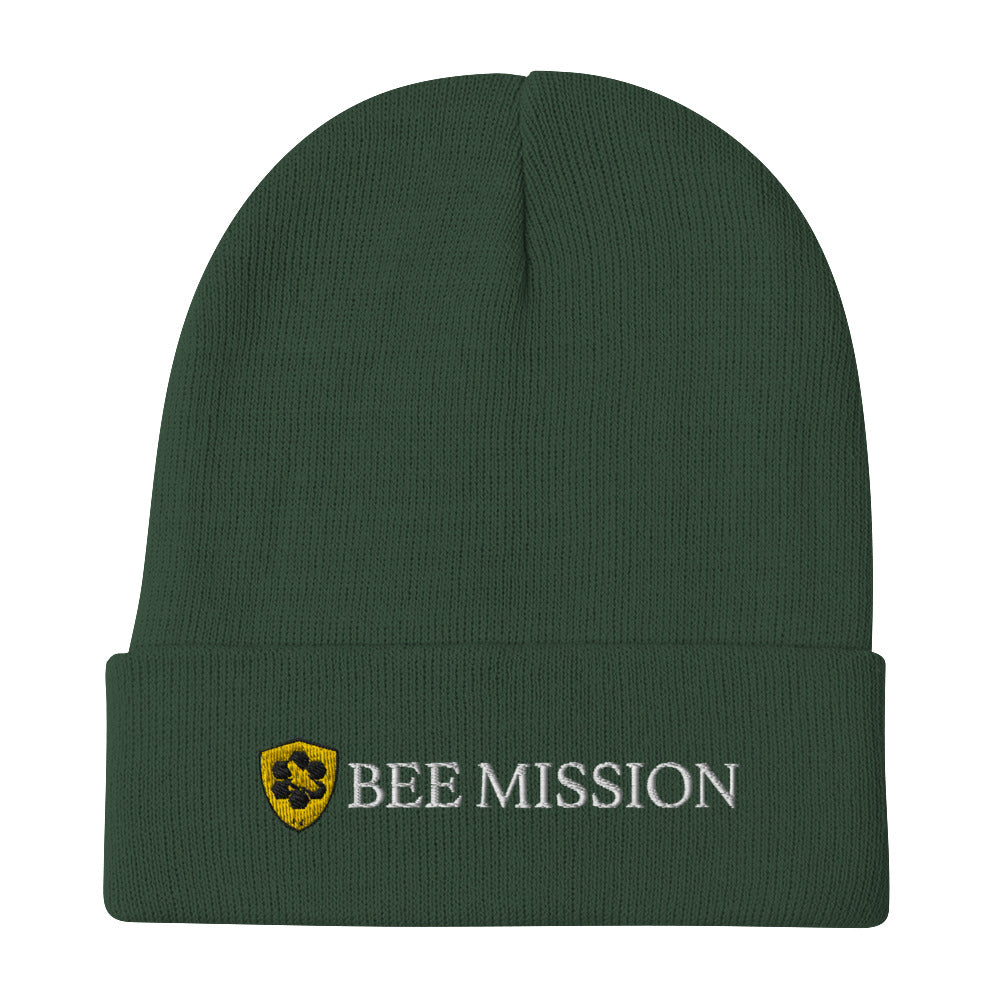 Bee Mission Cuffed Beanie