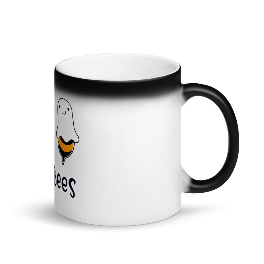 "Limited Edition Boo Bees ""Beek-A-Boo"" Matte Black Magic Mug"