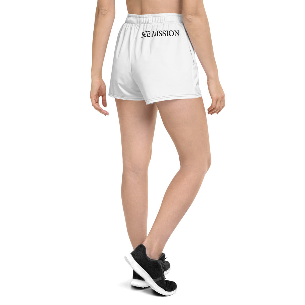 Bee Mission Women's Short Shorts - White