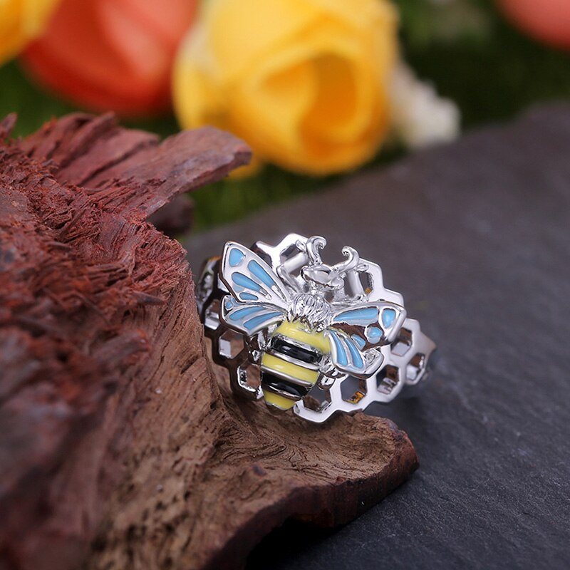 Queen Bee & Honeycomb Ring