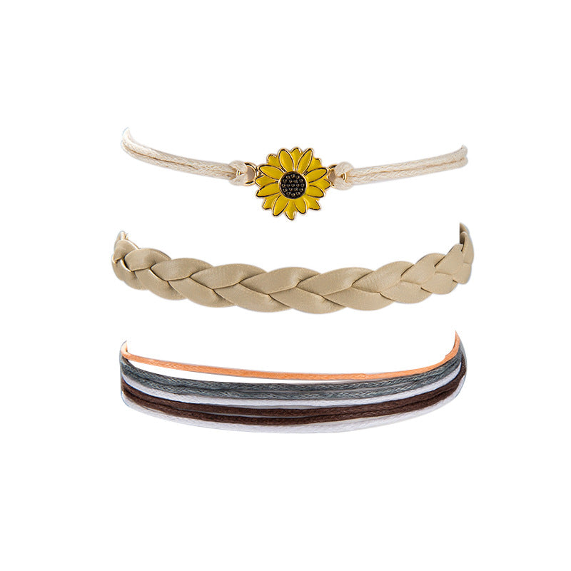 You Are My Sunshine Sunflower Anklet
