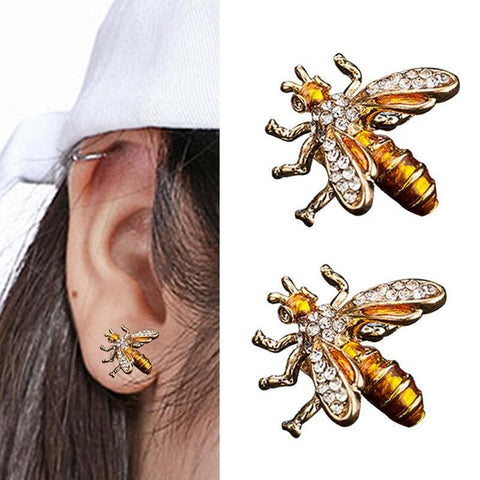 Limited Edition Cubic Zirconia Bee Earrings