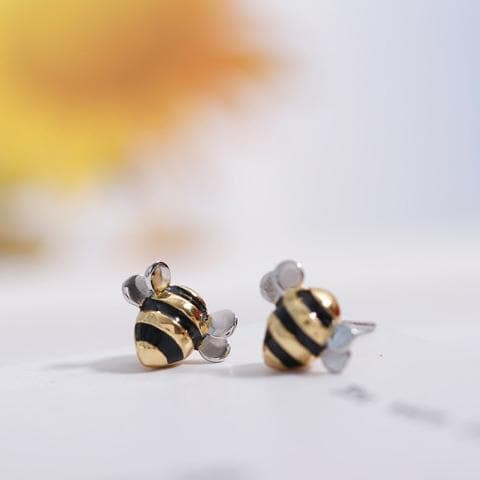 Limited Edition Sterling Silver Bee Earrings