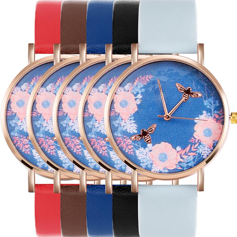 Bee & Flowers Watch