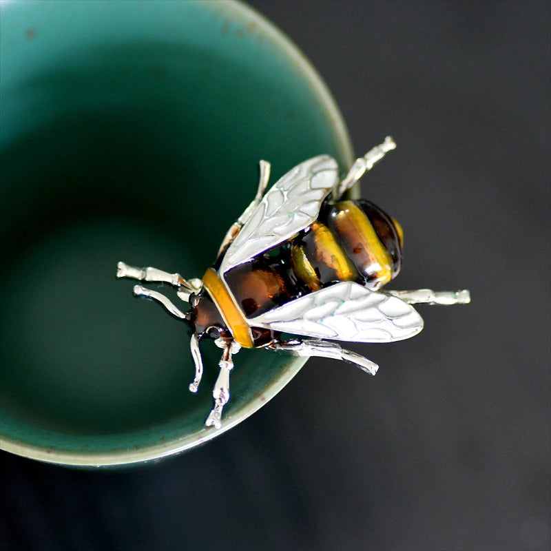Realistic Bee Brooch