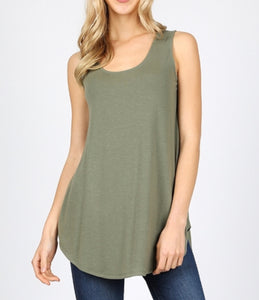 Light olive essential tank (plus available)