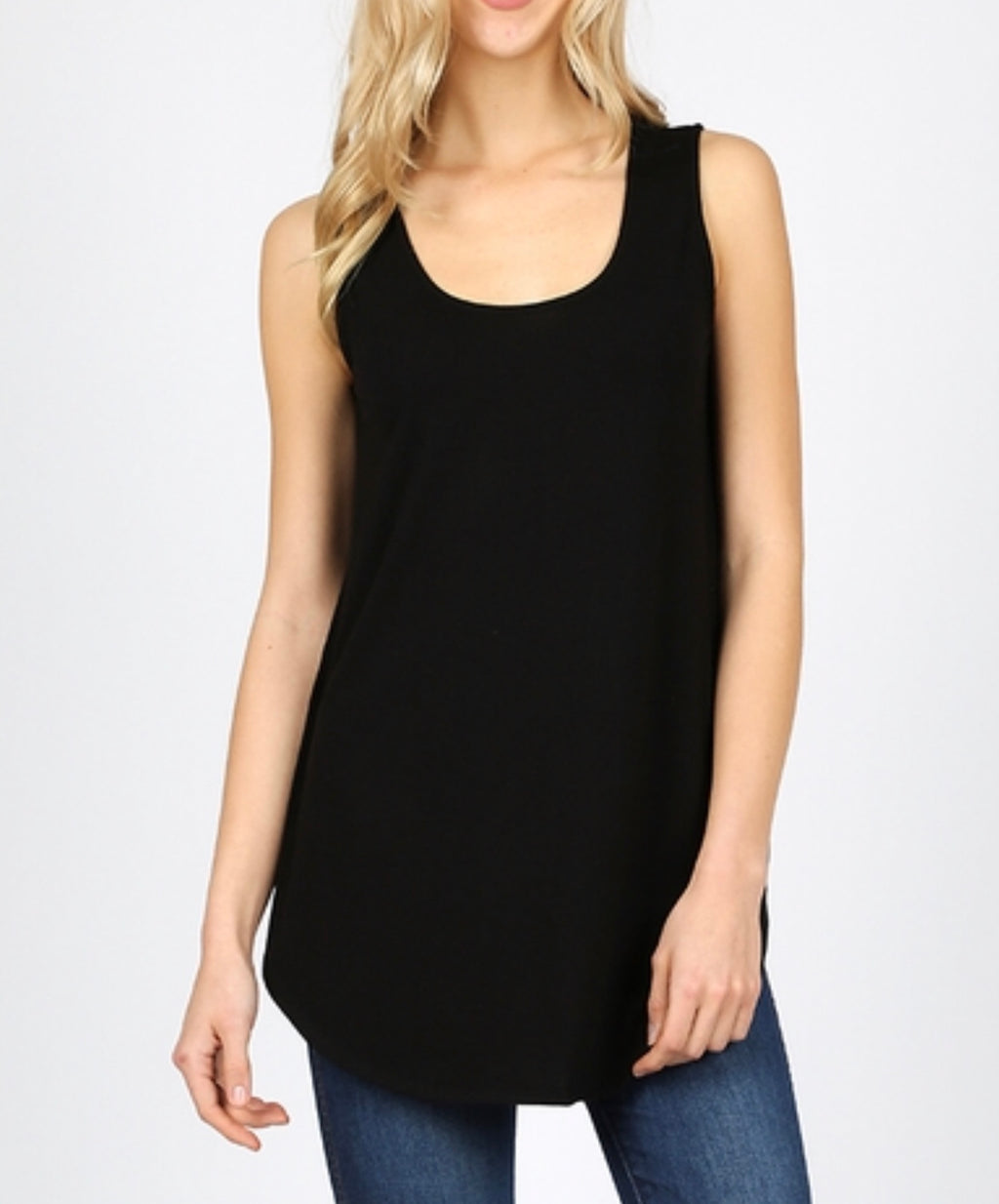 Black essential tank (plus available)