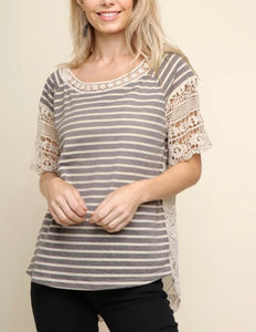 Crochet and striped top