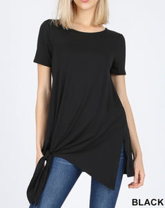 Black tie bottom tee (plus available)