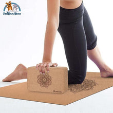 2 Pcs Natural Cork Yoga Yoga Block