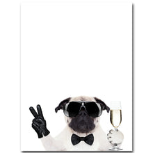 Glasses Dogs Wall Art Canvas & Posters
