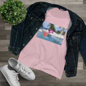 Pink Cocktail Organic Women's Lover T-shirt