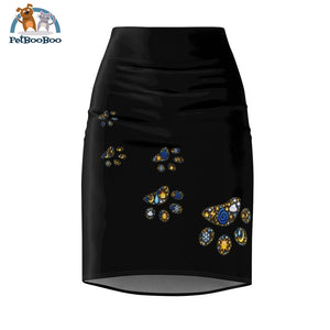 Animal Footprint Womens Pencil Skirt Xs All Over Prints