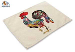 Artistic Animals Placemats 1 / 42X32Cm 100003327