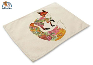 Artistic Animals Placemats 10 / 42X32Cm 100003327