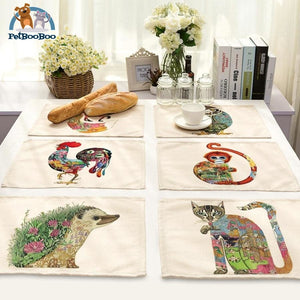Artistic Animals Placemats 100003327