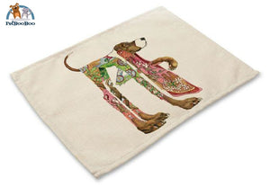 Artistic Animals Placemats 11 / 42X32Cm 100003327