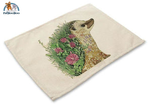Artistic Animals Placemats 5 / 42X32Cm 100003327