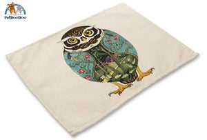 Artistic Animals Placemats 6 / 42X32Cm 100003327