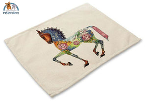 Artistic Animals Placemats 8 / 42X32Cm 100003327