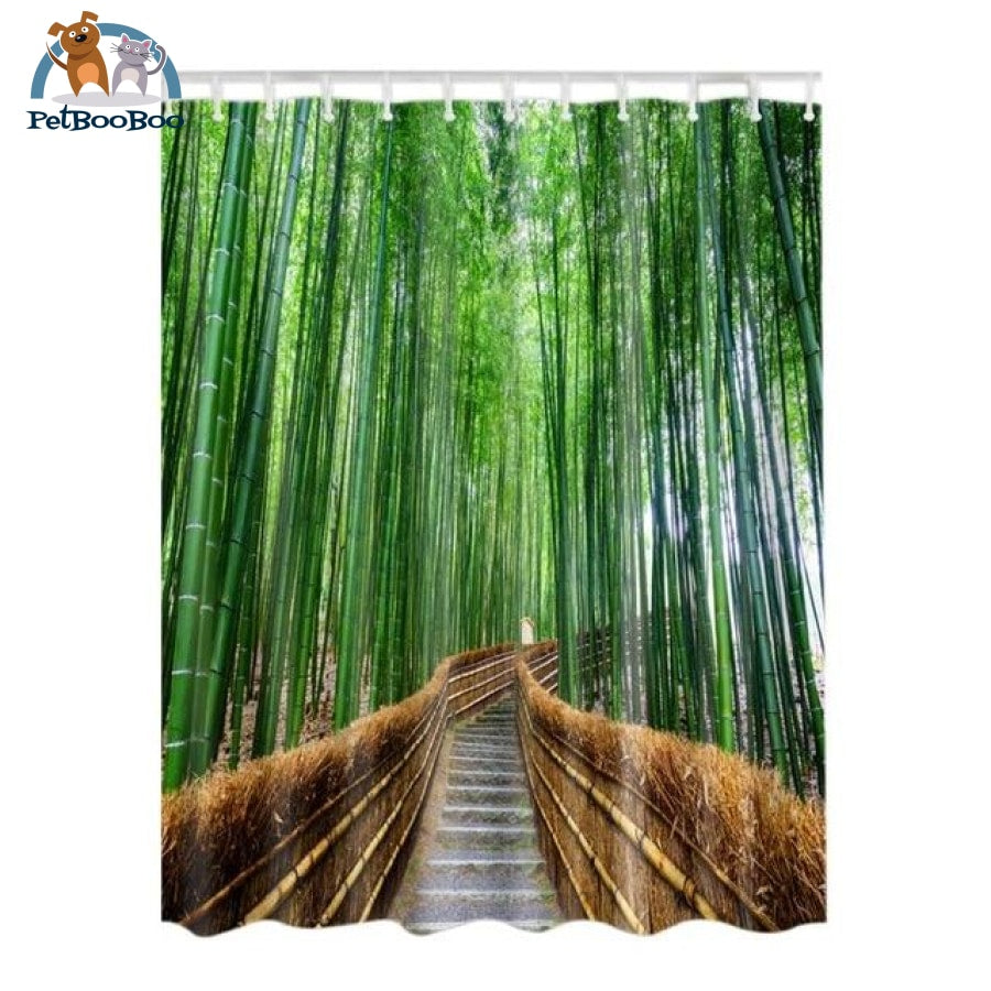 Bamboo Path Shower Curtain 3 / United States 165X180Cm Shower Curtain