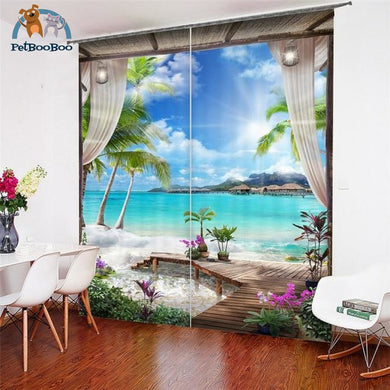 Beach Curtains 1 / W 52Inch X H 84Inch Hook Curtains