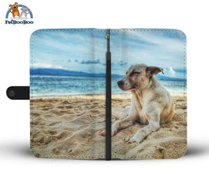 Beach Dog Wallet Phone Case Iphone 8