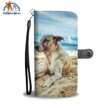 Beach Dog Wallet Phone Case