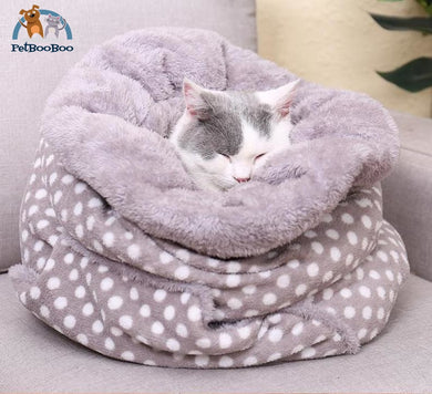 Bed Super Soft Fleece Sleeping Bag For Cats And Dogs Cat