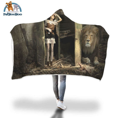 Behind The Door Hooded Blanket Adult 80X55