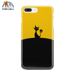 Black And Yellow Cat Phone Case Iphone 7 Plus