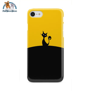 Black And Yellow Cat Phone Case Iphone 8