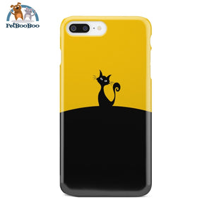 Black And Yellow Cat Phone Case Iphone 8 Plus