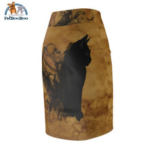 Black Cat Womens Pencil Skirt All Over Prints