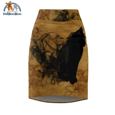 Black Cat Womens Pencil Skirt Xs All Over Prints
