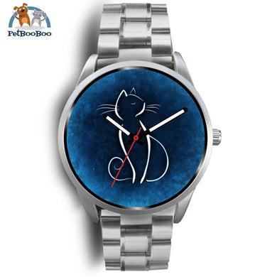 Blue Cat Silver Watch Mens 40Mm / Metal Link