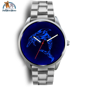 Blue Dolphin Silver Watch Mens 40Mm / Metal Link