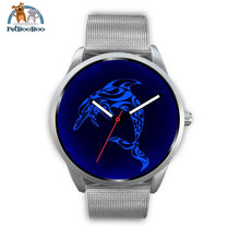 Blue Dolphin Silver Watch Mens 40Mm / Metal Mesh