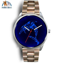 Blue Dolphin Silver Watch Mens 40Mm / Rose Gold Metal Link