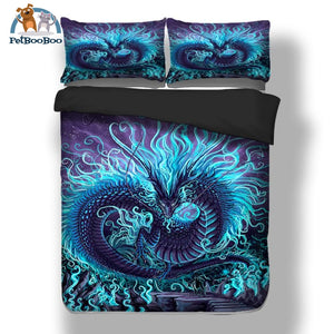 Blue Dragon Bedding Duvet Cover Set Duvet Cover