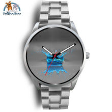 Blue Drop Grey Silver Watch Mens 40Mm / Metal Link