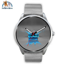Blue Drop Grey Silver Watch Mens 40Mm / Metal Mesh