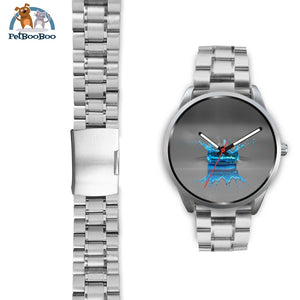 Blue Drop Grey Silver Watch