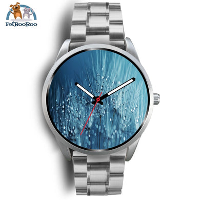 Blue Drops Silver Watch Mens 40Mm / Metal Link