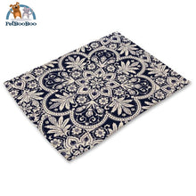 Blue Mandala Table Placemats 2 Placemats