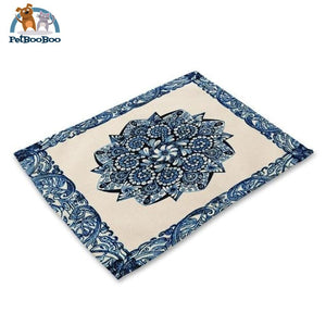 Blue Mandala Table Placemats 4 Placemats