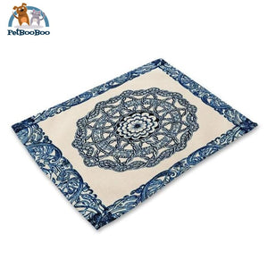 Blue Mandala Table Placemats 5 Placemats