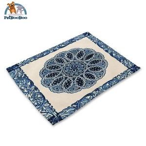 Blue Mandala Table Placemats 6 Placemats