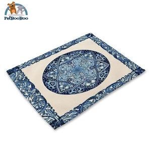 Blue Mandala Table Placemats 7 Placemats